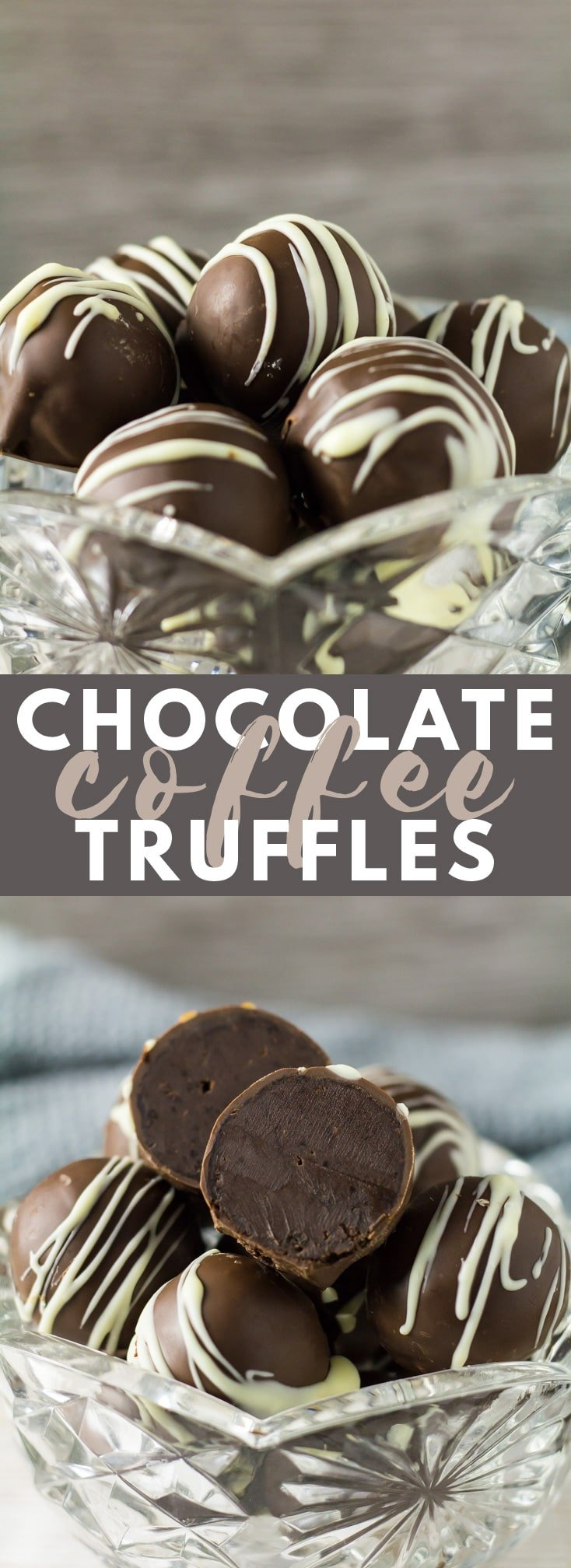 Chocolate Coffee Truffles - These deliciously rich and creamy chocolate truffles are infused with coffee, and sealed in a smooth chocolate shell!