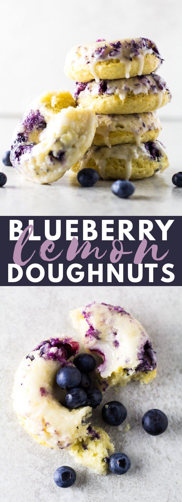 Baked Lemon Blueberry Doughnuts