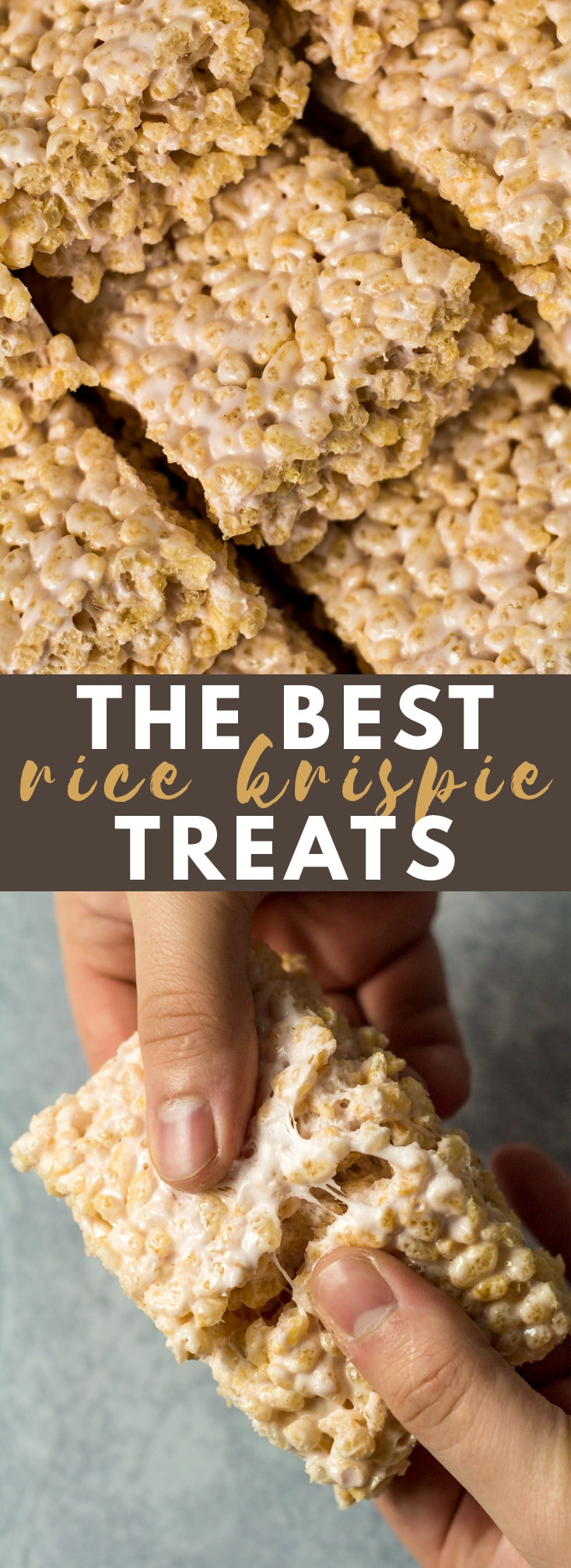 The BEST Rice Krispie Treats - Deliciously thick, chewy, ooey gooey bars that are loaded with Rice Krispies and melted marshmallow. These Rice Krispie squares are seriously good!