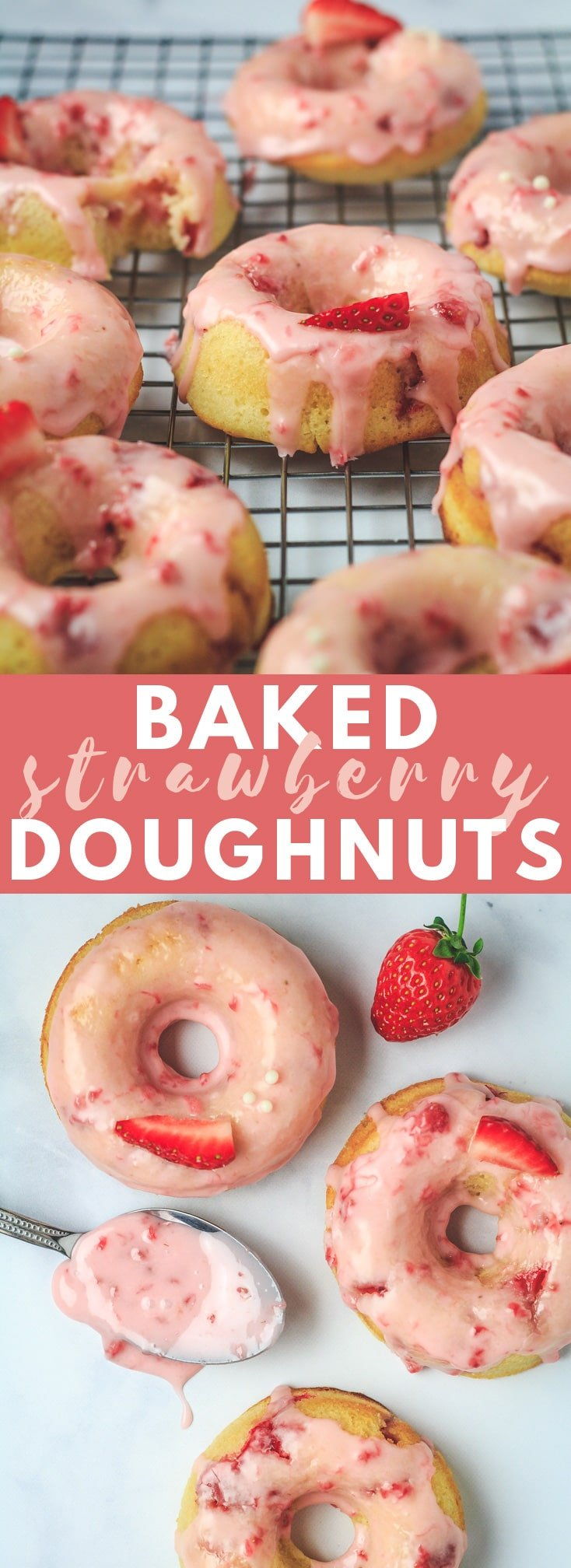 Baked Strawberry Doughnuts