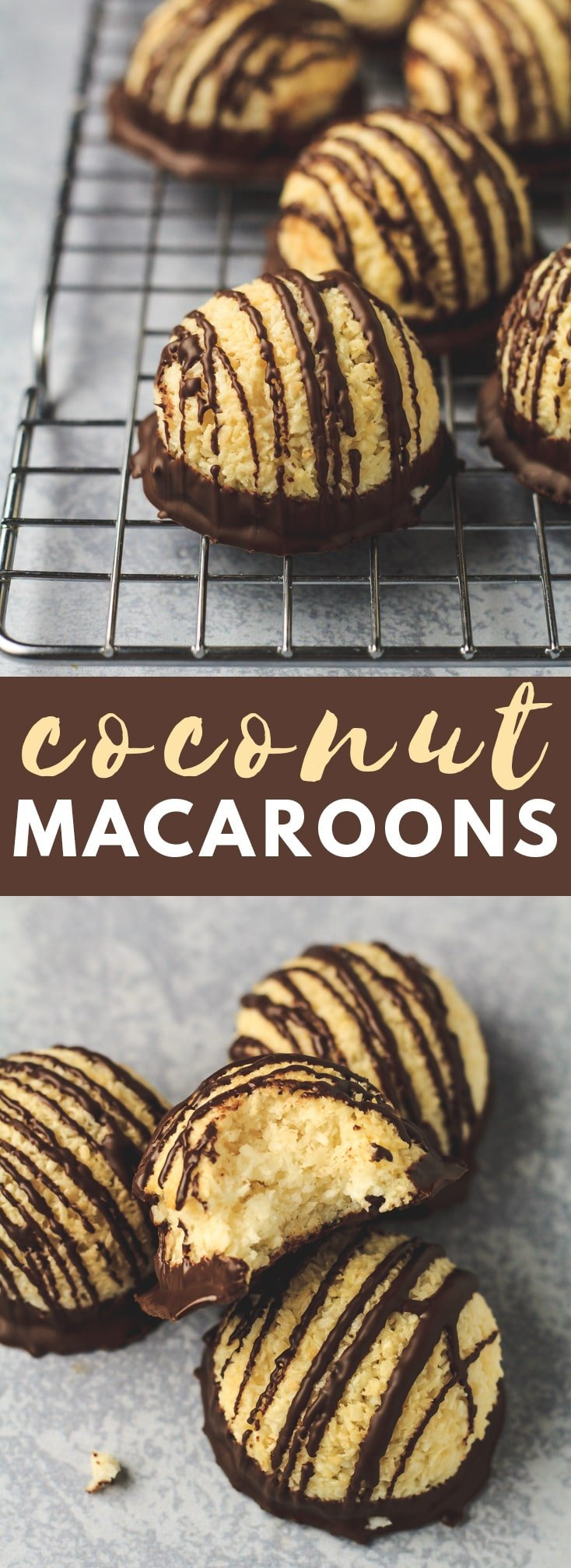Coconut Macaroon - These deliciously chewy coconut macaroons are packed full of flavour, and only require 6 simple ingredients to make. The BEST easy coconut macaroons!