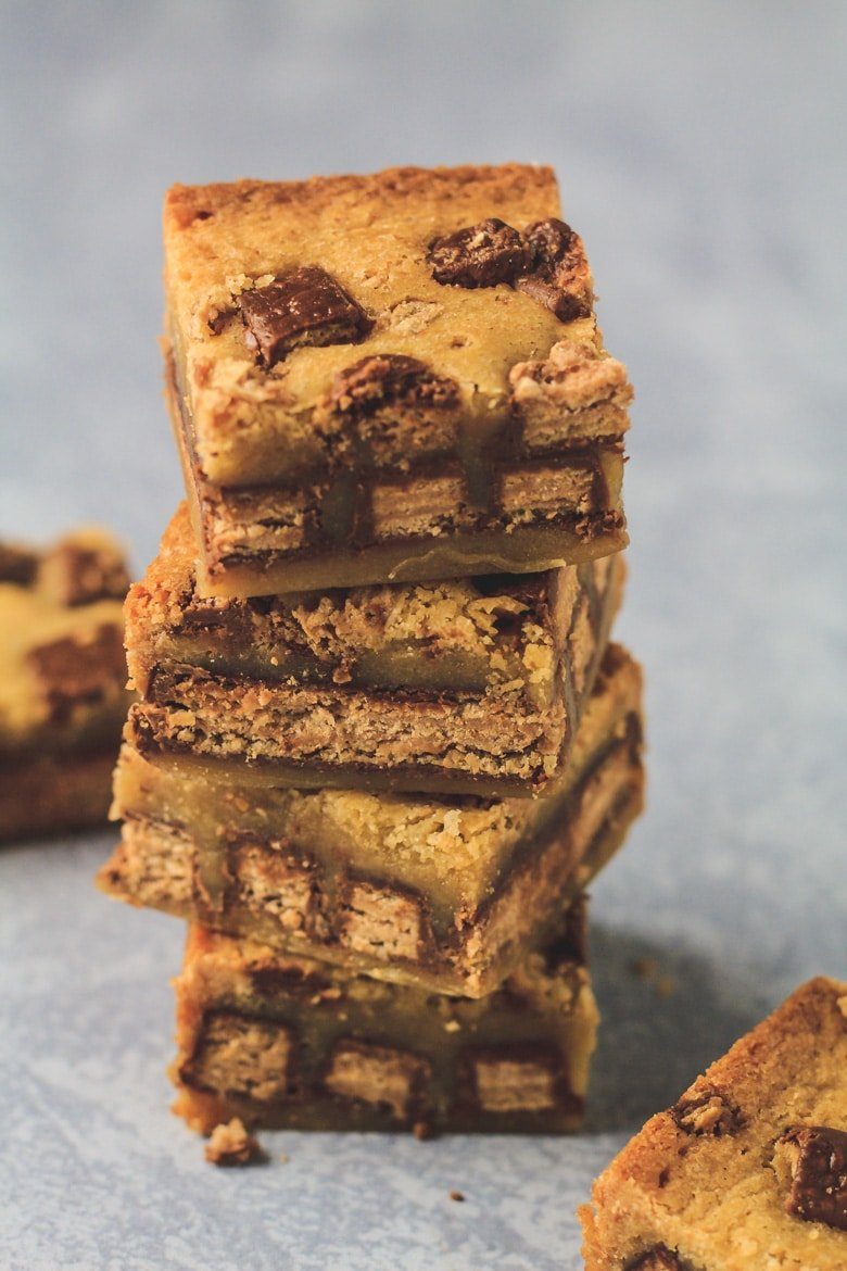 Fudgy KitKat Blondies