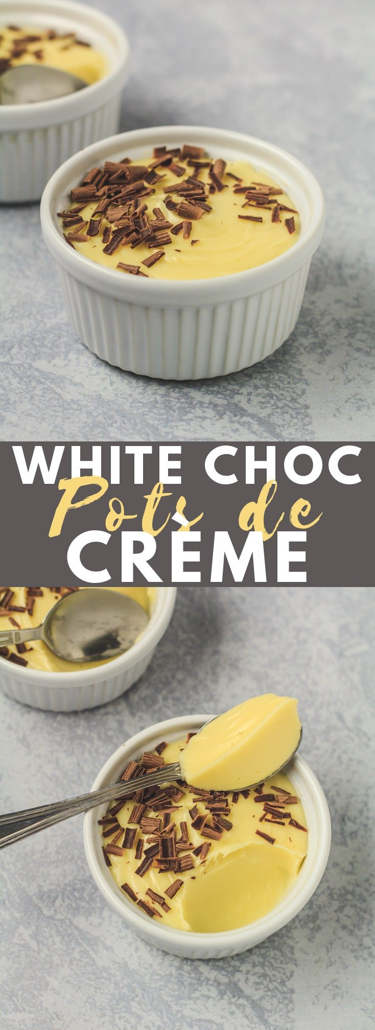 Easy White Chocolate Pots de Crème