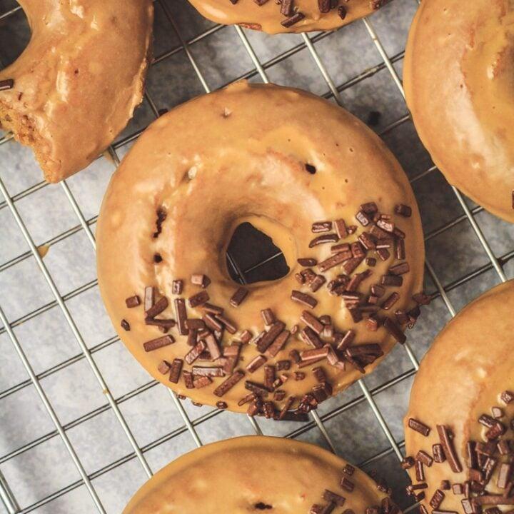 Baked Coffee Doughnuts