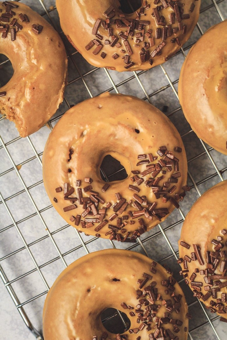 Baked Coffee Doughnuts