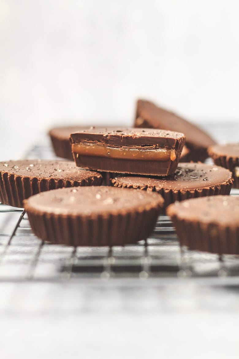 Salted Caramel Chocolate Cups