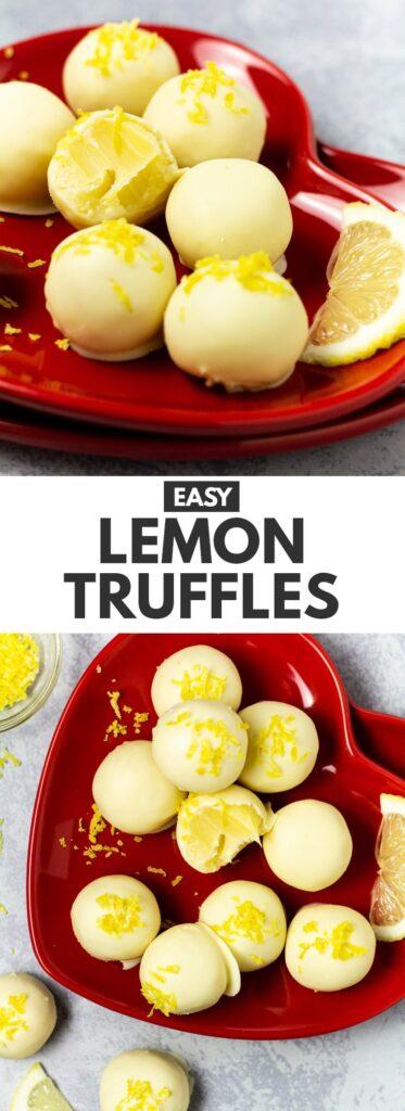 Easy Lemon Truffles