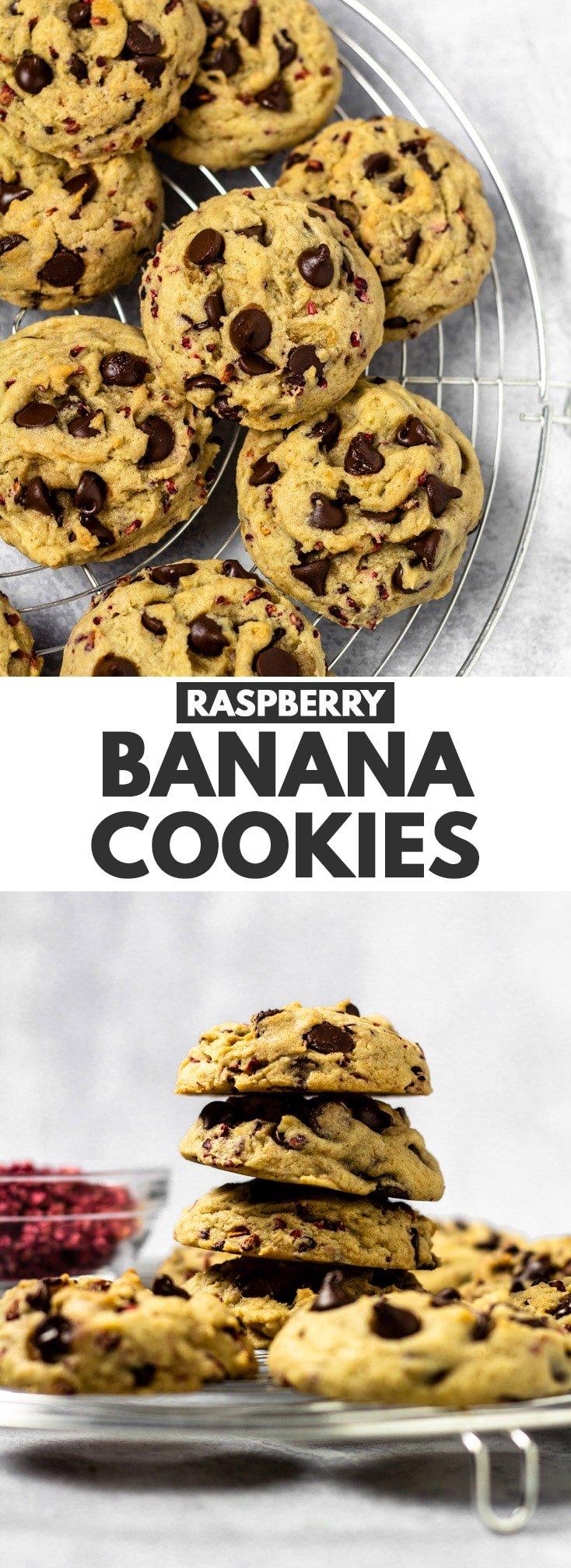 Raspberry Banana Cookies