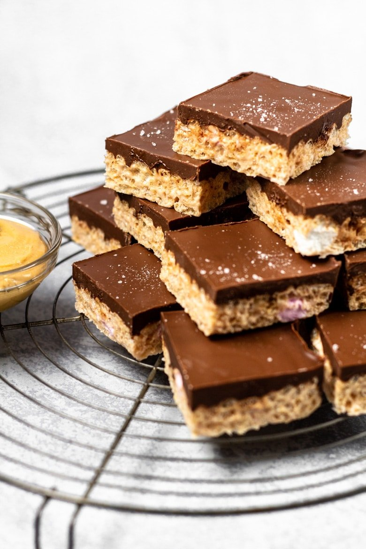 Chocolate Peanut Butter Krispie Treats