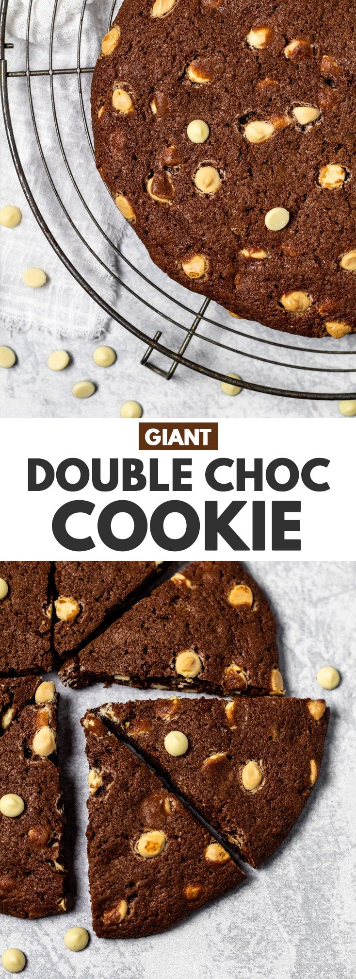Giant Double Chocolate Chip Cookie