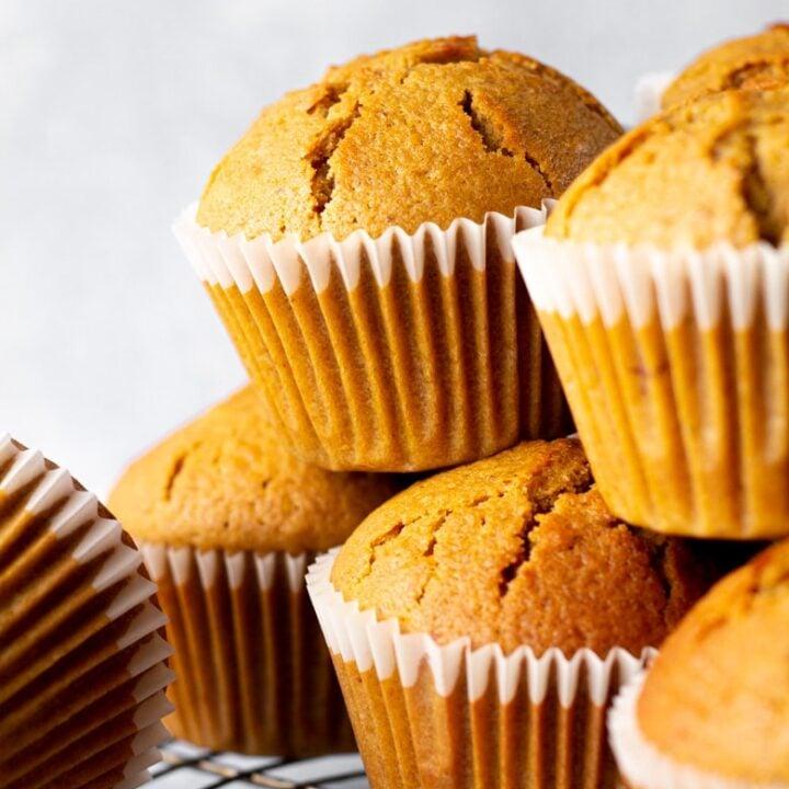 Nutella Stuffed Gingerbread Muffins