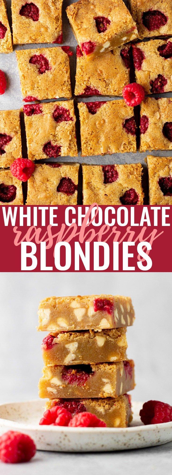 White Chocolate Raspberry Blondies