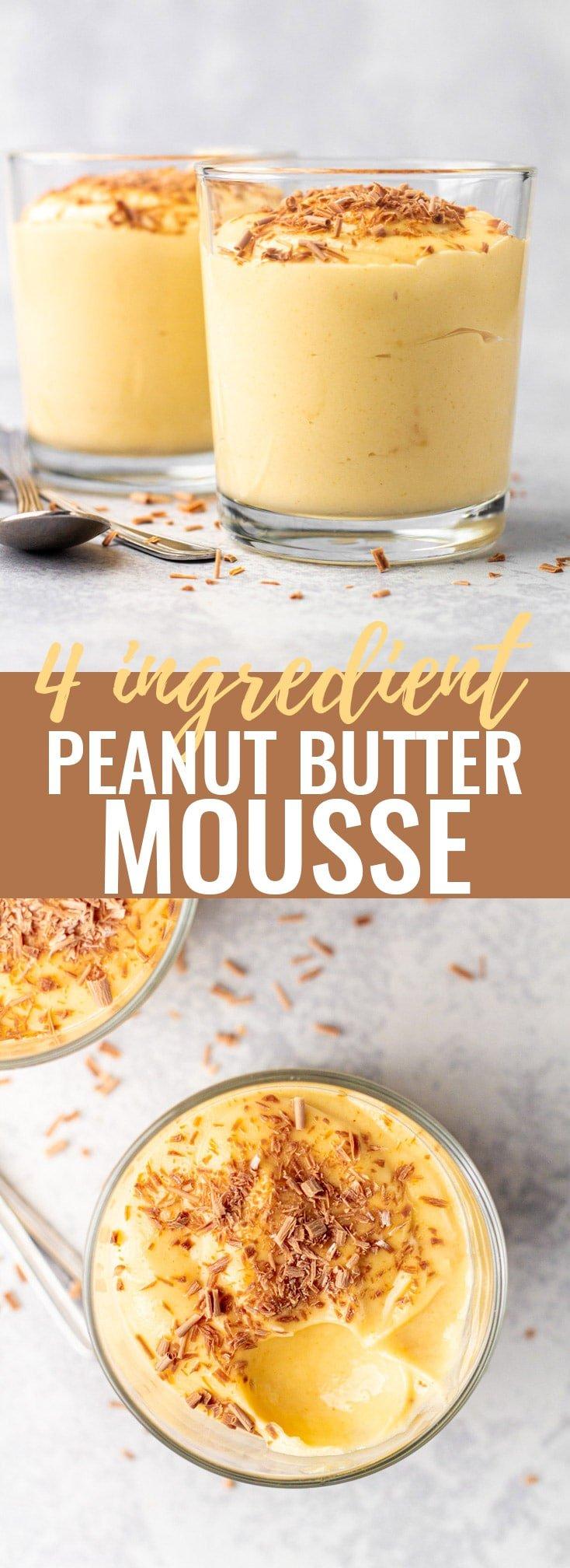 4 Ingredient Peanut Butter Mousse