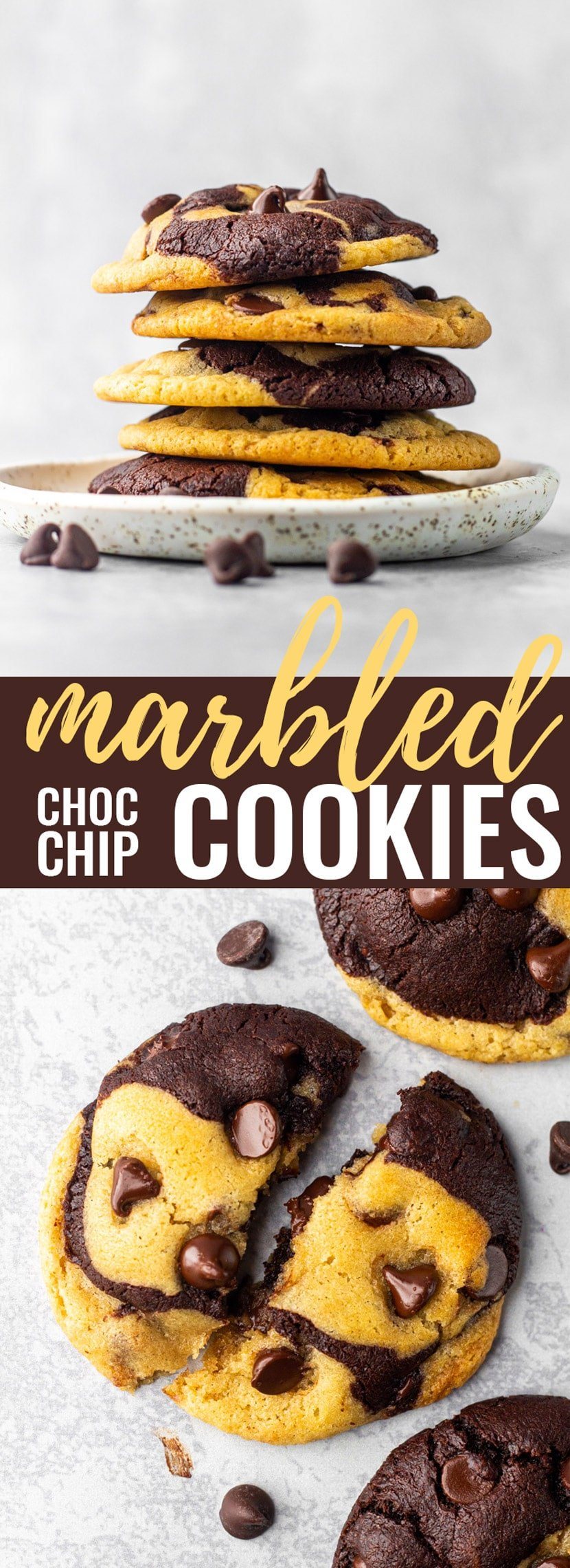 Marbled Chocolate Chip Cookies